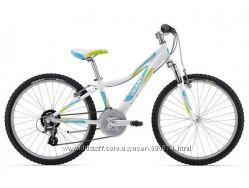 Подростковый велосипед Giant Areva 1 24 белыйбирюзовый