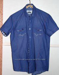 Легенькая рубашка с коротким рукавом тм Mondo, М