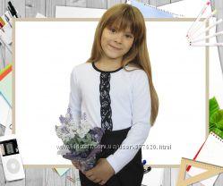Блузка в школу с вышивкой