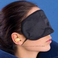 Маска очки для сна чёрная унисекс Акция