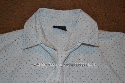 Рубашка белая в крапинку для мальчика р. 134 с галстуком