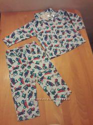 Zeeman пижама фланелевая байковая на 74 см Привезена из Нидерландов