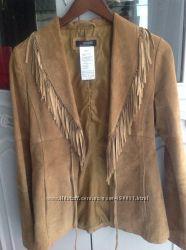 Куртка кожаная женская с бахромой