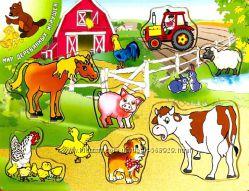 Рамка вкладыш домашние животные, алфавит и др. 10 видов