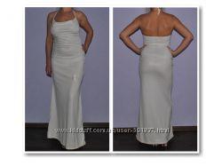 Длинное вечернее платье с открытой спиной, состояние нового, р. S