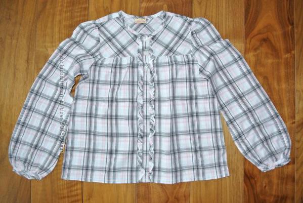 Красивая блузка в клетку Cherokee, 128-134. 100 хб.