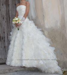 Свадебное платье цвета шампань бу