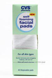 CVS - self foaming facial pads. Очищающие спонжи для лица. Впервые