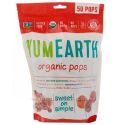 YumEarth, Органические леденцы, вкус в ассортименте, c Iherb, Америка