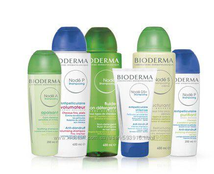 Bioderma Node и Node K, DS лечебные шампуни от перхоти,  при псориазе
