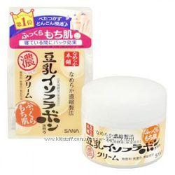 Японский  ночной питательный крем SANA Soy Milk cream