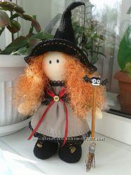 Интерьерная кукла ручной работы Ведьмочка