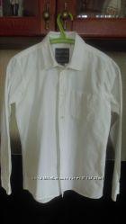 Рубашка белая школьная COOL CLUB, бу, р. 158