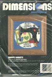 Набор для вышивания Dimensions Happy Hearts 7156 новый. 1994г.