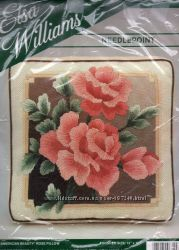 Набор для вышивания Elsa Williams США AMERICAN BEAUTY ROSE PILLOW 06315