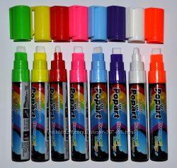 Маркеры для LED доски, лед панели, флуоресцентные, светящиеся, яркие, 8 мм