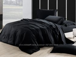 Черное постельное бельё премиум класса, элитное, все размеры.