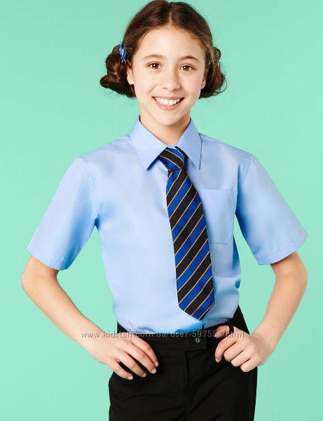 Блузка, рубашка в школу для девочки, Marks & Spencer, разм. 122-140