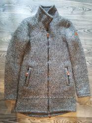 стильное серое пальто bench размер S