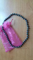 Ожерелье из черного натурального перламутра