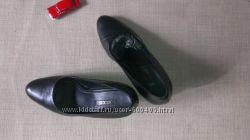 Чёрные кожаные туфли ecco