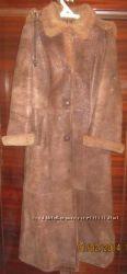 Натуральная дублёнка длинная р. 42-44