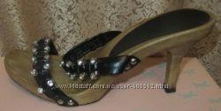 Босоножки-шлёпки женские кожаные с камушками Pixy р. 36