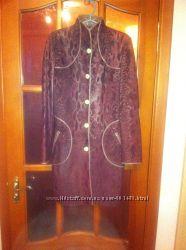 женское кожаное полу пальто