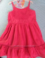 Легкое натуральное платье Debenhams 3-4 года