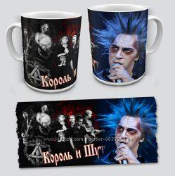 Чашки музыкальные, рок группы
