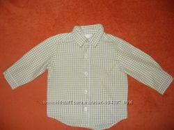 Стильняа клетчатая рубашка 1. 5-2 года