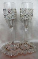 Нежные бокалы Жених и невеста
