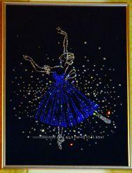 Сверкающая картина из страз Балерина