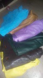 Кожаные куртки пиджаки  разных цветов на любой вкус