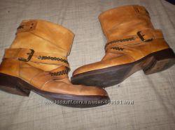 кожаные  сапожки  ф. French  connektion   размер  39  -  25. 5  см