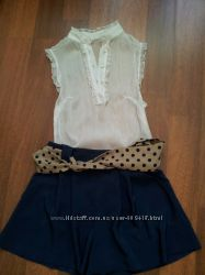 Шифоновая Блузка на Лето с коротким рукавом