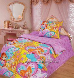 Комплект постельного белья Феи Винкс1, 5 спальное