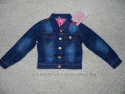Джинсовые пиджаки на девочек. Рост 110 - 128