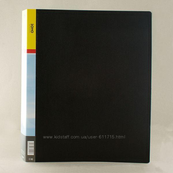Папка пластиковая Soho A4 с 40 файлами