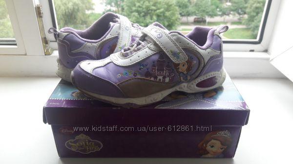 мигающие кроссовки Disney 30р. 19см США