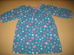 Яркое трикотажное платье на девочку 12-18 мес.