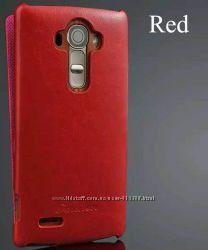 Стильный кожаный чехол для LG G4 красный новый