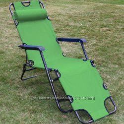 Шезлонг садовый, дачный складной шезлонг WELFULL-YZ22003-green