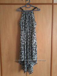 Платье летнее черно-белое размер 48