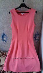 Платье нежно-кораллового цвета Oodji, размер 34