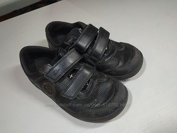 Немецкие кожаные туфли, кроссовки Clarks на мальчика 5-6 лет, 32 размер