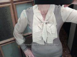 Блузка комбинированная новая. 46-50р. торг