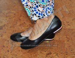 Кожаные балетки -туфельки