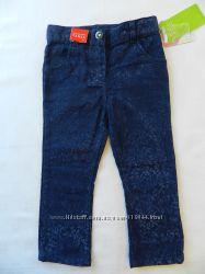 Нарядные джинсы с бархатистым рисунком. Topomini. Рост 92 см.