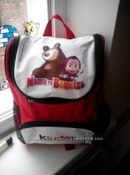 Рюкзак школьный, Маша и медведь, от Киндер сюрприз